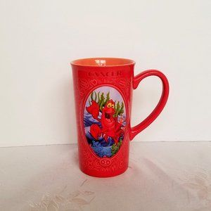 Disney Zodiac Cancer Red Mug Cup Sebastian EUC
